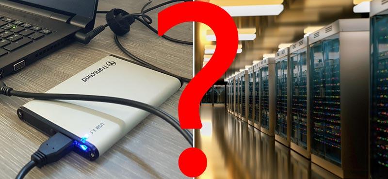 Comparatif sauvegarde de données : disque dur externe ou externalisée ?