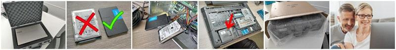 Changement disque SSD envoi compris par Wiclic