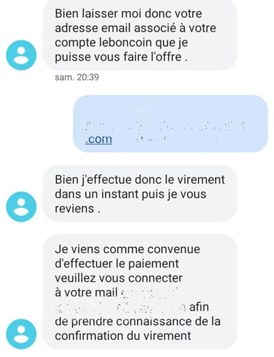 arnaque leboncoin sms