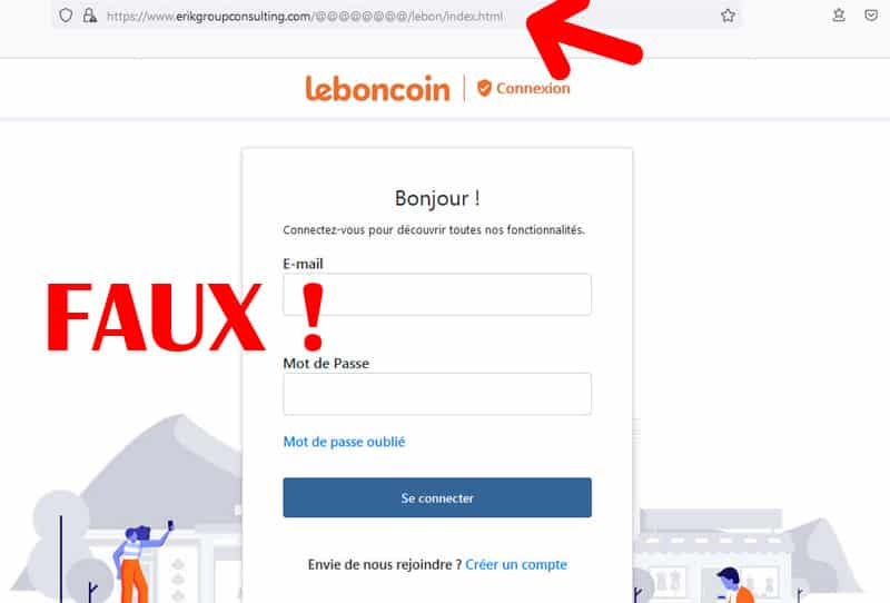 arnaque leboncoin fausse home page