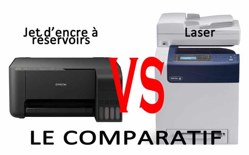 comparatif imprimantes jet d'encre vs laser