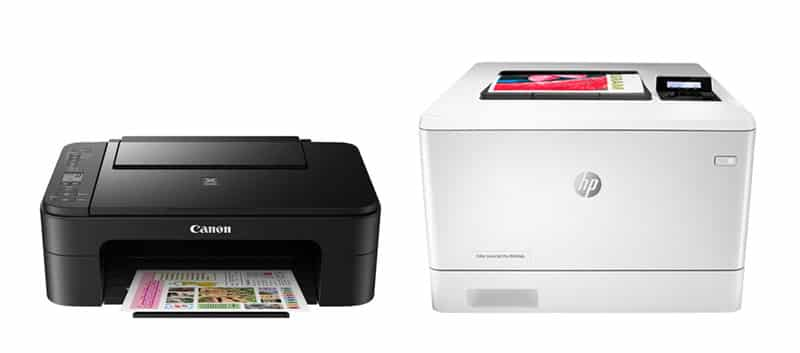 Eposn ET-2710 à gauche, Xerox 6505 à droite