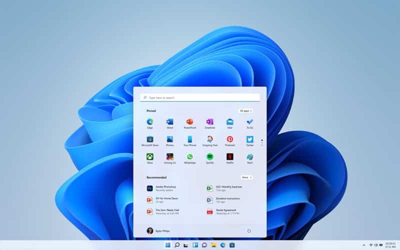 Windows 11 barre des taches recentrée